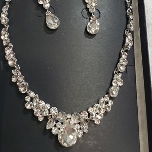 Mariell Crystal earring n necklace set